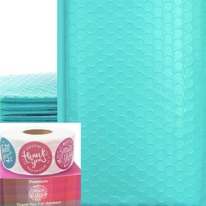 3/$15❗️Teal Bubble Mailers and Thanks You Stickers